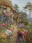Alfred de Breanski A Garden in July painting