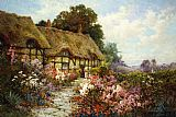 Alfred de Breanski Ann Hathaway's Cottage painting
