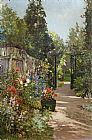 Alfred de Breanski The Summer Garden painting
