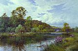 Alfred de Breanski The Thames - Summer Morning near Maidenhead painting