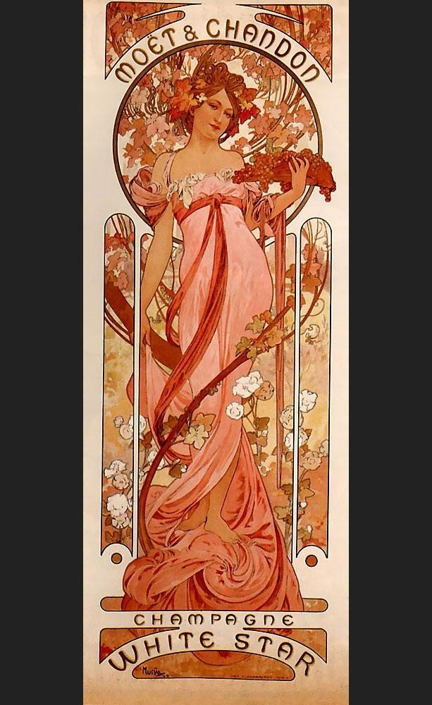 Alphonse Maria Mucha Moet and Chandon White Star