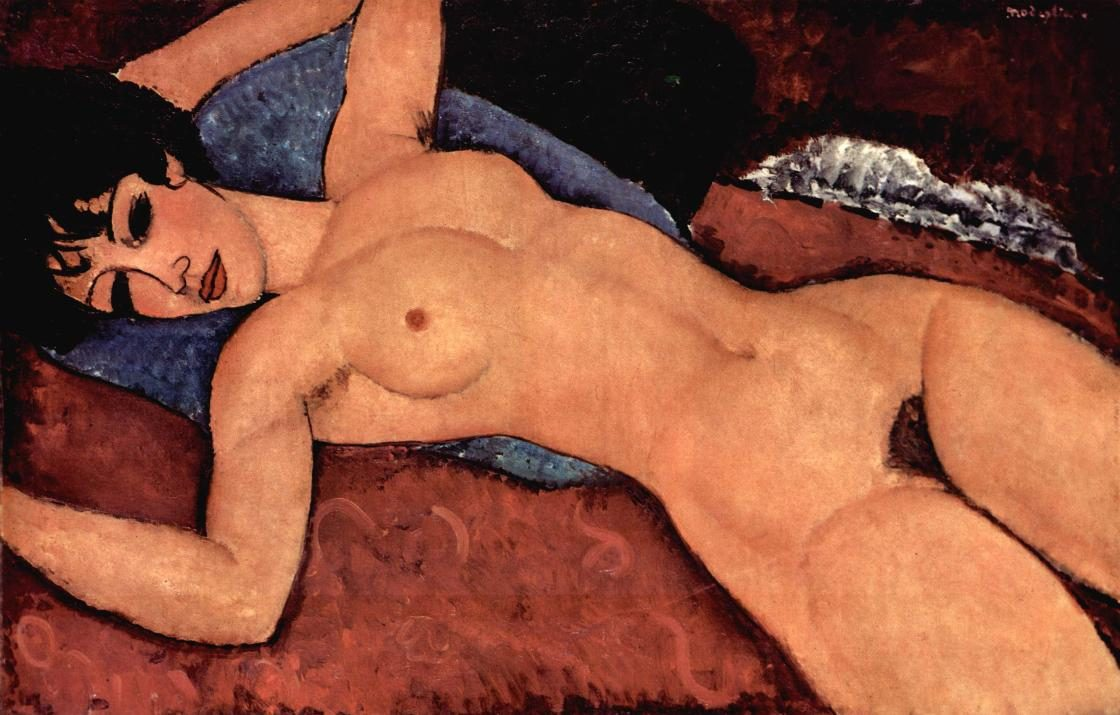 Amedeo Modigliani Red Nude