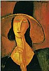Amedeo Modigliani Jeanne Hebuterne in Large Hat painting
