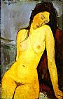 Amedeo Modigliani the Seated Nude painting