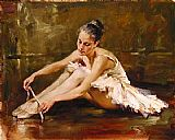 Ballet paintings - Before the Dance by Andrew Atroshenko