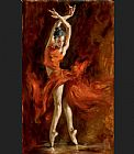 Ballet paintings - Fiery Dance by Andrew Atroshenko