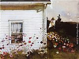 Andrew Wyeth Around the Corner painting