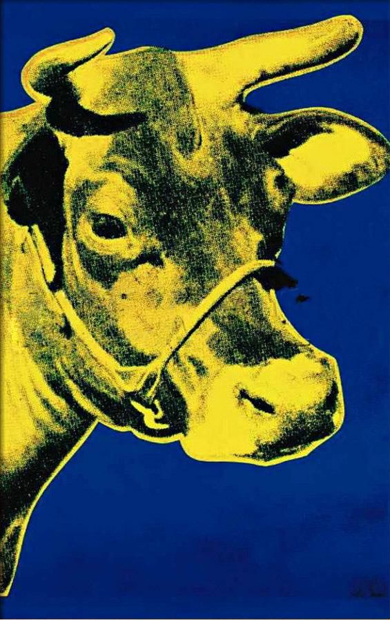 Blue cow print background - photo#19