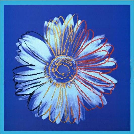 Andy Warhol Daisy Blue on Blue