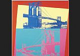 Andy Warhol Brooklyn Bridge 1983 painting