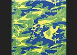 Andy Warhol Camouflage green blue yellow painting