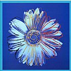 Andy Warhol Daisy Blue on Blue painting