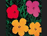 Andy Warhol Flowers 1964 painting