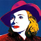 Andy Warhol Ingrid with Hat painting