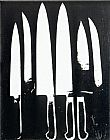 Andy Warhol Knives black and white painting