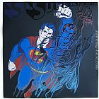 Andy Warhol Superman with Diamond-Dust painting