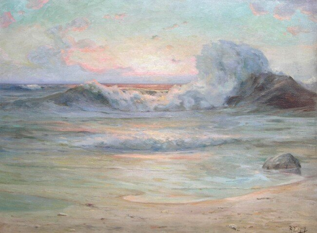 Angel espoy ocean sunset painting best paintings for sale for Angel paintings for sale