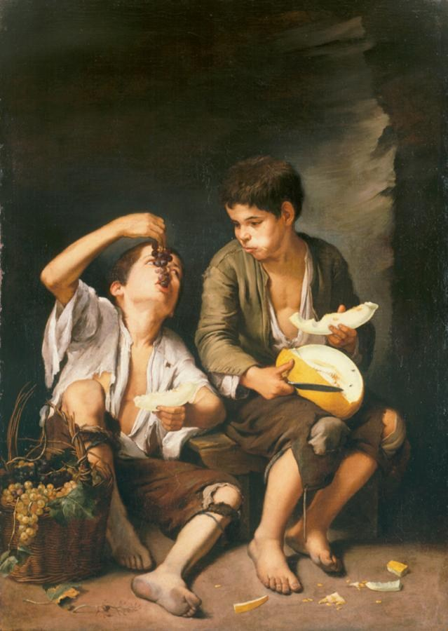 Bartolome Esteban Murillo Beggar Boys Eating Grapes and Melon