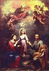 Bartolome Esteban Murillo Two Trinities painting