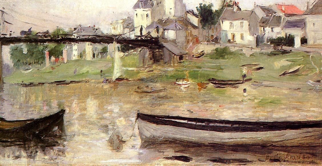 Berthe Morisot Boats on the Seine