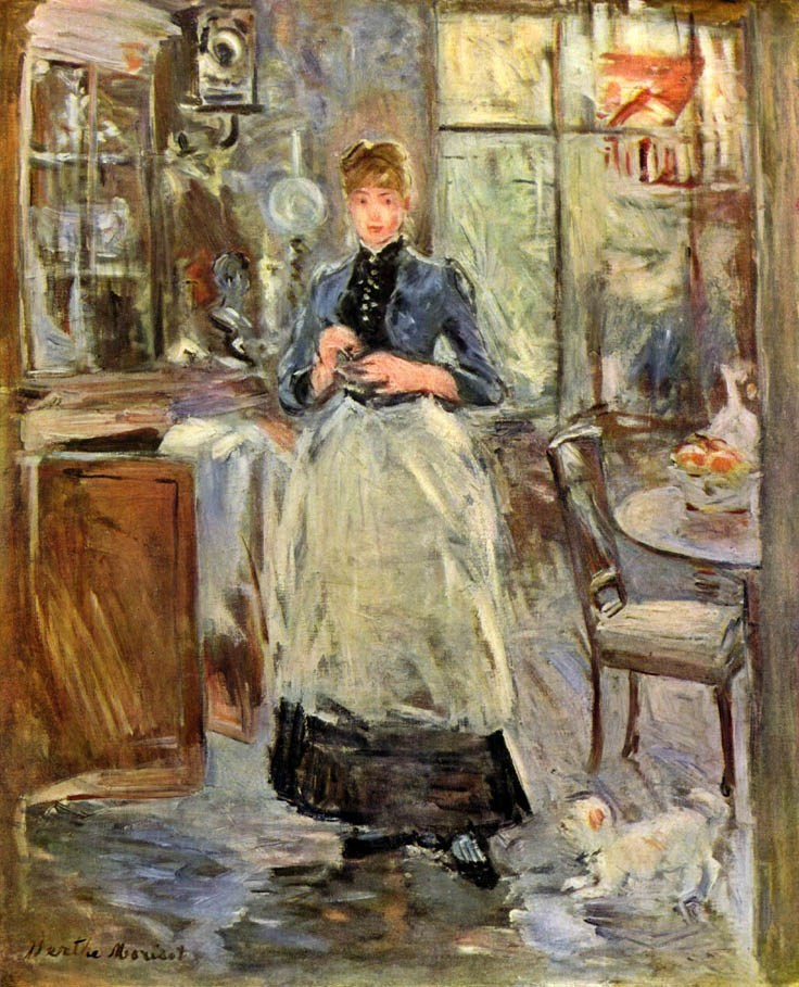 Berthe morisot the dining room painting best paintings for Dining room paintings