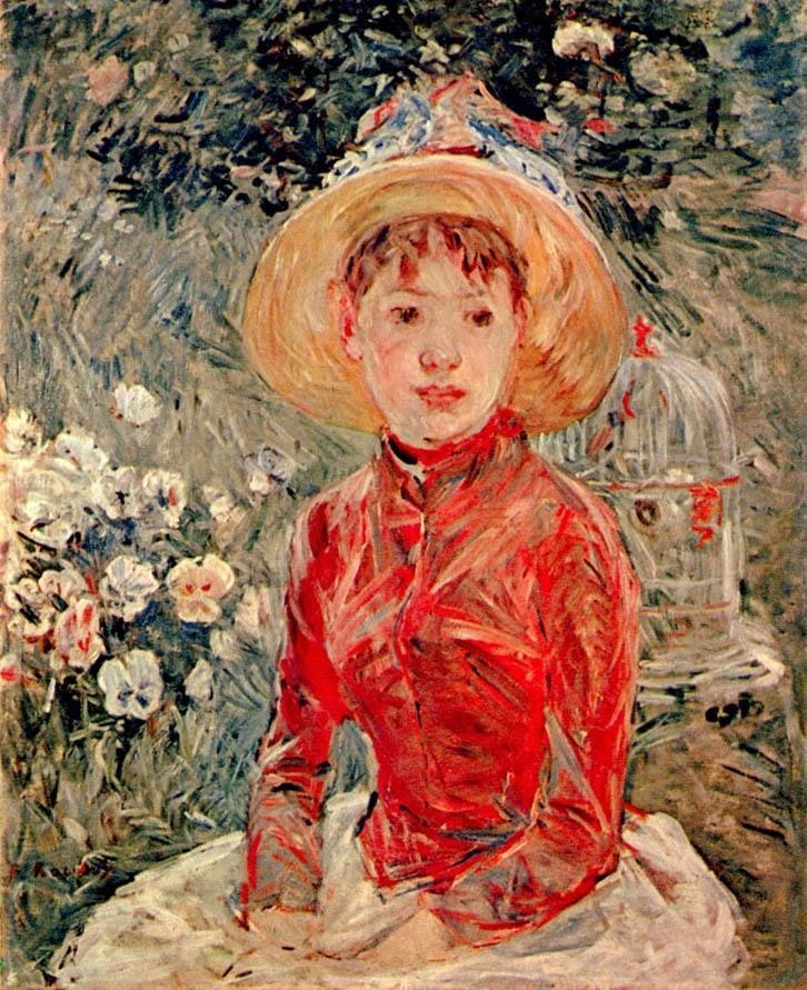 Berthe Morisot Young Girl with Cage