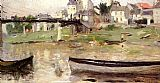 Berthe Morisot Boats on the Seine painting