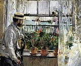 Berthe Morisot Eugene Manet on the Isle of Wight painting