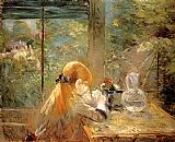 Berthe Morisot On The Veranda painting