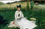 Berthe Morisot Reading painting