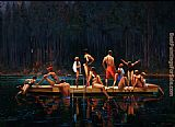 Brent Lynch Lake Swimmers painting