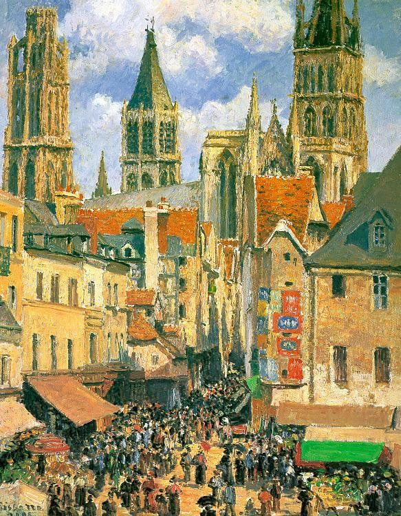 Camille Pissarro The Old Market at Rouen