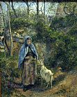 Camille Pissarro Girl with a Goat painting