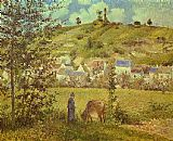Camille Pissarro Landscape at Chaponval painting