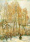 Camille Pissarro Morning Sunlight on the Snow painting