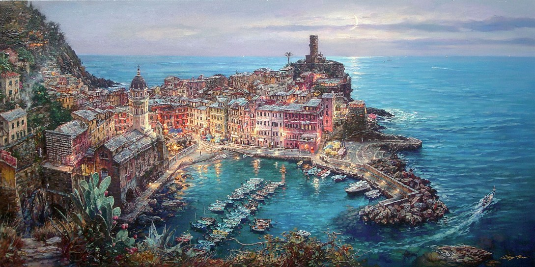Cao Yong Moonlight in Vernazza