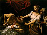 Romance paintings - Judith Beheading Holofernes by Caravaggio