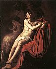 Caravaggio St. John the Baptist 2 painting