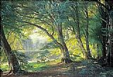 Carl Fredrik Aagard The Deer Park painting