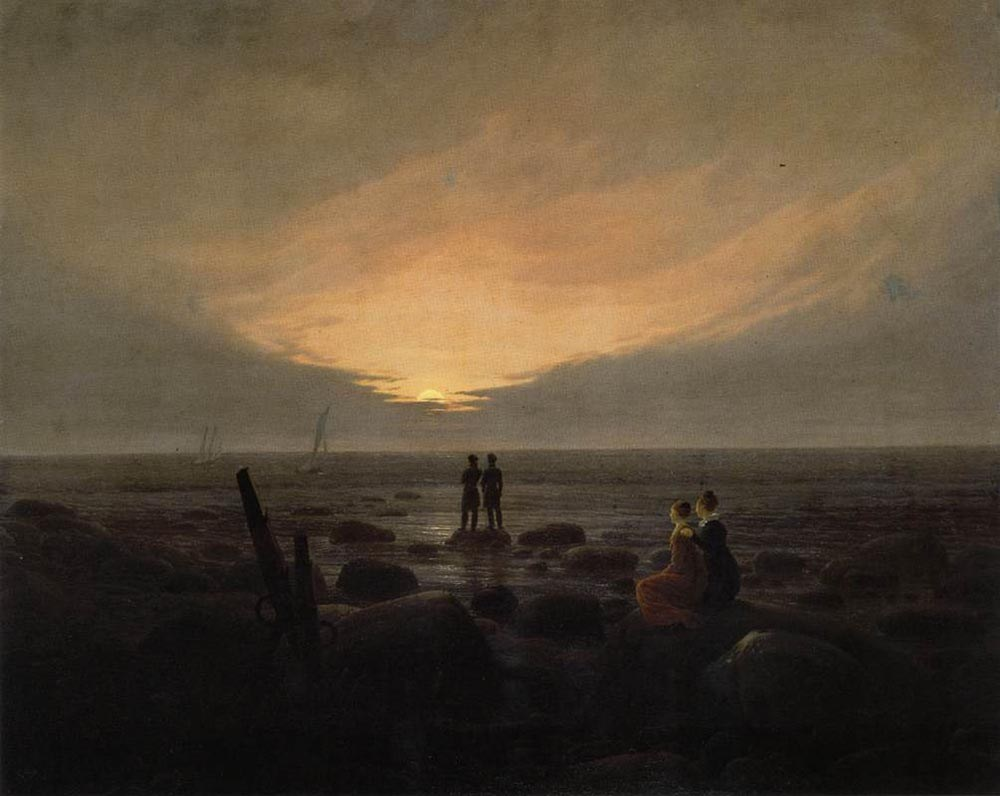 Caspar David Friedrich Moonrise by the Sea
