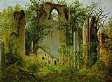 Caspar David Friedrich Eldena Ruin painting