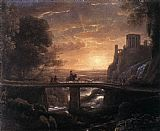 Knight paintings - Imaginary View of Tivoli by Claude Lorrain