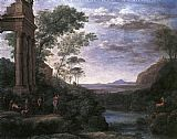 Hunting paintings - Landscape with Ascanius Shooting the Stag of Sylvia by Claude Lorrain