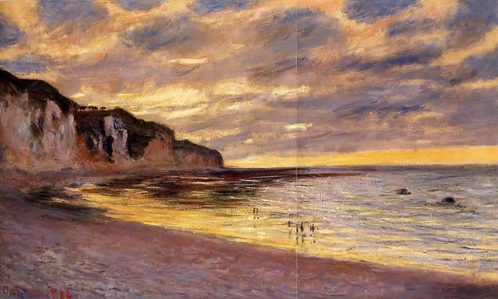Claude Monet L'Ally Point Low Tide