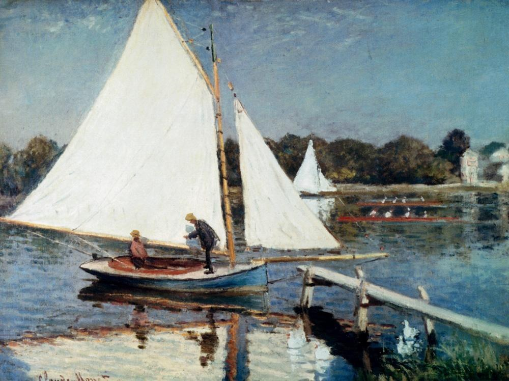 Claude Monet Sailing At Argenteuil
