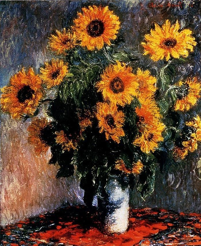 Claude monet sunflowers painting best paintings for sale for Large artwork for sale