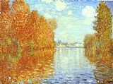Claude Monet Autumn at Argenteuil painting