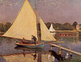 Claude Monet Boaters at Argenteuil painting