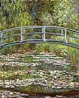 Garden paintings - Bridge over a Pool of Water Lilies by Claude Monet