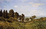 Claude Monet By the Sea painting